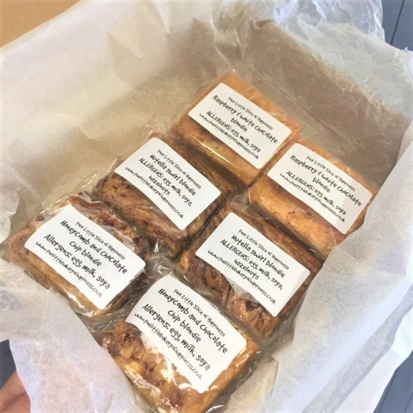 Gluten-free blondies and cakes by post