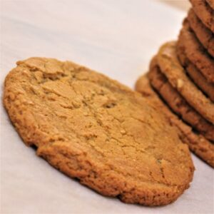 Gluten-free vegan triple ginger cookie