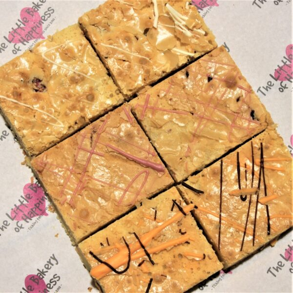 Gluten-free blondies by post mixed box