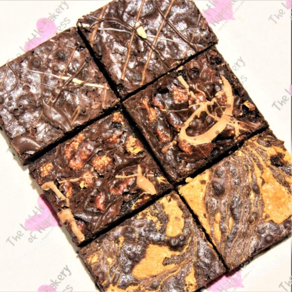 Gluten-free brownies by post mixed box