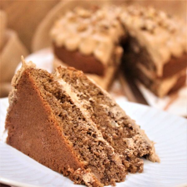 Bake at home gluten-free coffee and walnut cake